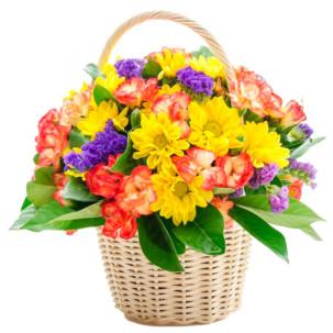 """Цветы в корзинке """"День радости"""""""